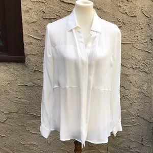 NWT Theory silk blouse